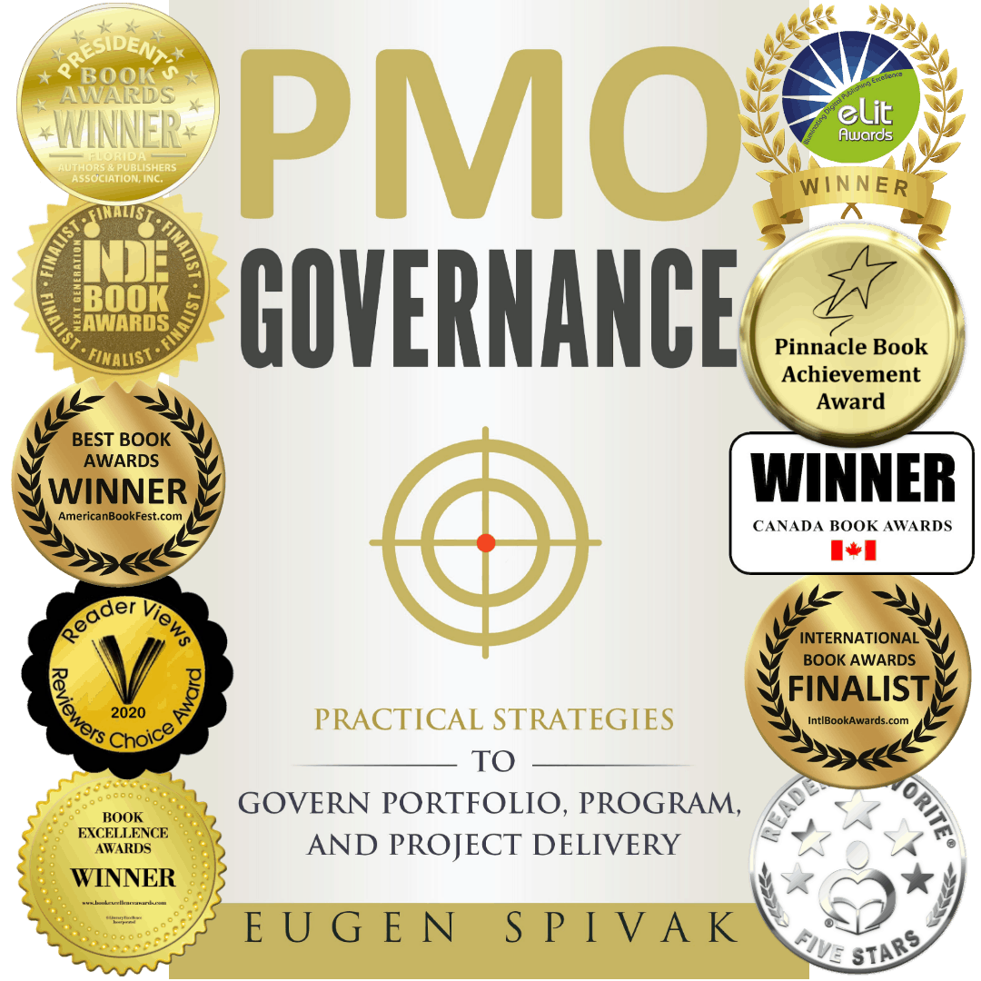 PMO Governance - Multi Award Winning Book To Improve Strategy Execution - Cover with Images
